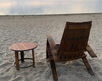 Shea Oak Works Wine Barrel Adirondack Chair