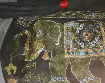 Handstitched Elephant Bag from India