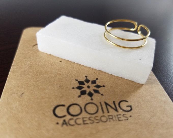 Thin Double Row Ring