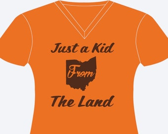 Just A Kid From The Land Women's Cleveland T-Shirt