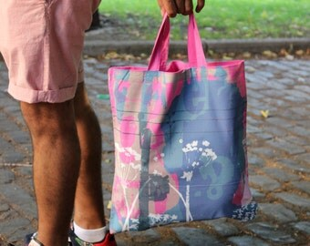 Silhouette tote bag in pink