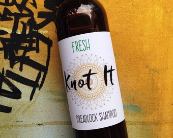 Dreadlock Shampoo Mint Fresh Scent Blend 8oz, Vegan, Organic, Residue Free