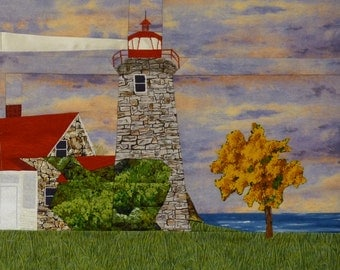 Windmill Point, VT Lighthouse quilt pattern - ON SALE