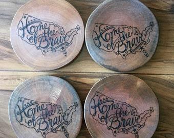 Americana coasters - set of 4