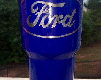 "Blue ""Ford"" Ozark Trail Tumbler"