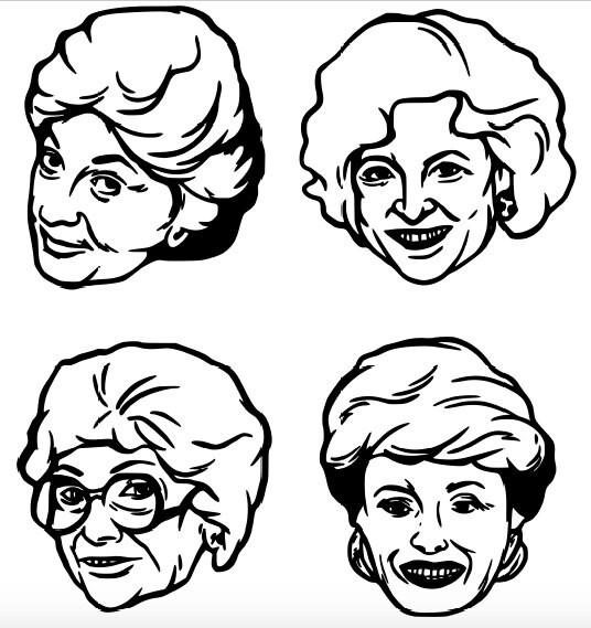 The Golden Girls Dorothy Sophia Blanche Rose Decal Lot