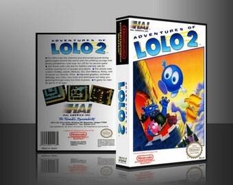 NES: Adventures of Lolo 2 Custom Case / Box (No Game)