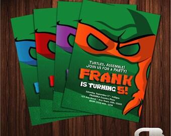 Teenage Mutant Ninja Turtles Invitation. TMNT invitation. TMNT invite