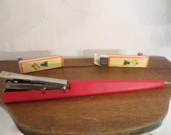 Vintage Lillian Vernon pen stapler combo 2 in one gift set  w/free ship