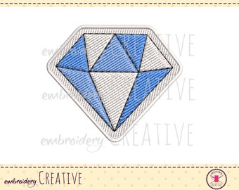 Diamond embroidery design for patch