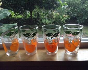 1950's juice glasses