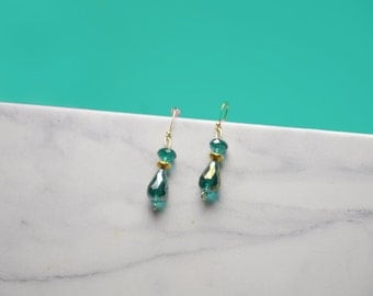 Emerald Drops Earrings