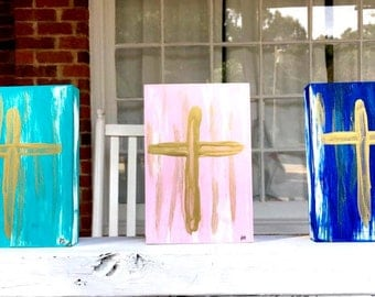 Painted canvas cross