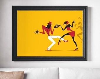 Music Poster, Salsa Art, Music Print, Dance Art, Modern Music Poster, Salsa Print, Dancing Print, Modern Music Poster, Wall Art Prints