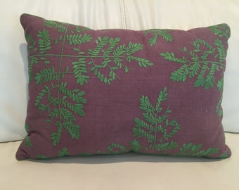 Decorative cotton embroidered pillow 12x16