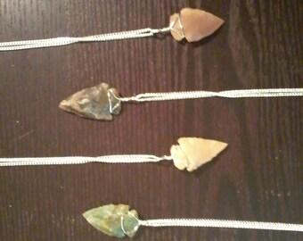 Handcrafted Arrowhead Pendant Necklace