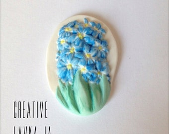 "Brooch ""Flower hyacinth"""