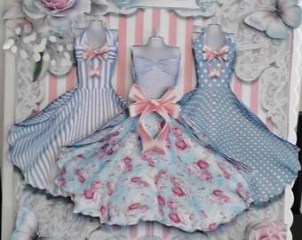 "Summer dresses 8""x8"" Greeting Card"