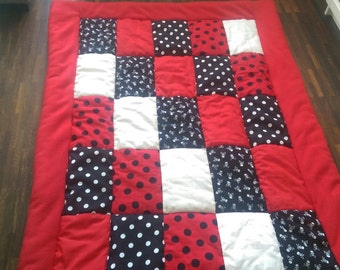 Baby Playmat red/black approximately 1.60 m x 1.20 m