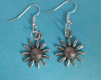 Sunflower Earrings for Pierced Ears