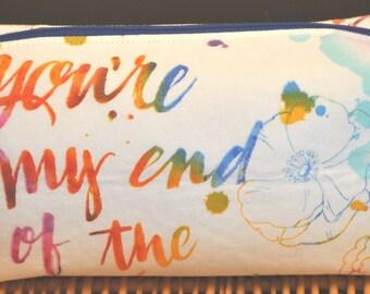 Medium rainbow happy endings cosmetic bag