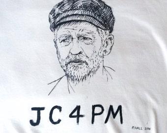 Hand Drawn custom Jeremy Corbyn t-shirts!
