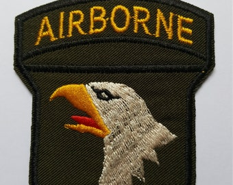 US Airborne 101st Airborne Iron On Sew on Patch Transfer