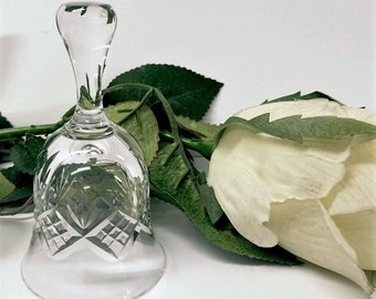 Edinburgh Crystal The Masters Miniatures Clear Crystal Cut Glass Bell with Original Box