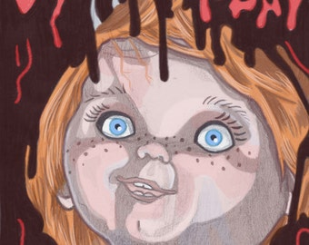 11x14 80's Child's Play Inspired Horror Movie Print