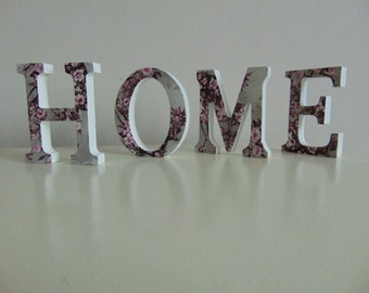 Home Wooden words
