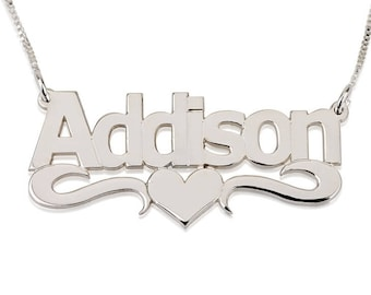 ADDISON Heart Name Necklace