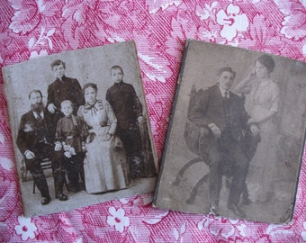 Vintage old black and white family photos