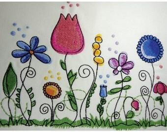 Floral Embroidery Design (FL005)