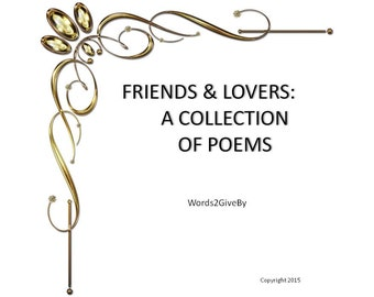 Poem Collection // Love Poems // Romantic Poems // Poetry Book // Poetry Gift // Secret Admirer Poem // Anniversary Gift // Friendship Poems