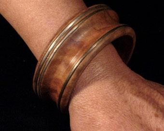 Olive and silver jewel-jewel-wood-wood Bracelet Jewelry with silver-Silver Olive-
