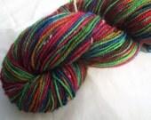 Hand-dyed Fingering Weight Wool/Nylon yarn