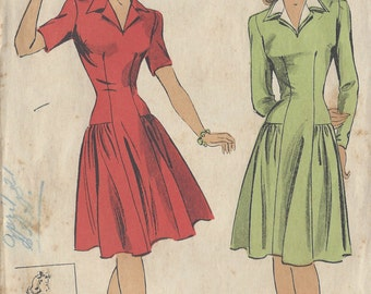 "1943 Vintage Sewing Pattern DRESS B30"" (R168) By 'Du Barry' 5680"