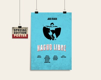 Nacho Libre Movie art Printable art Film print Wall art print Instant download Digital download Alternative poster Movie poster