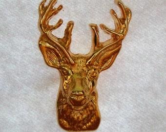 Vintage Deer Elk L.Razza pin