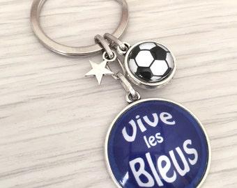 porte-clés homme sport football Vive les bleus . REF . 93