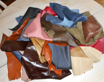 2kg (approx) LEATHER OFFCUTS