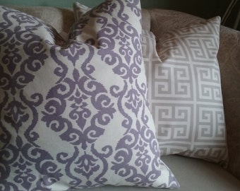 Lavender pillow cover, damask, cream, lavender and cream, pillow cover, decorative pillow, accent pillow, home decor, girl