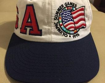 1996 Olympic Atlanta Games Vintage Snap Back Hat