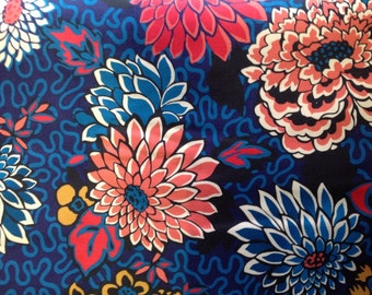 Twill fabric from Liberty of London, Meandering Chrysantemums