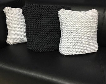 Hand Knitted Decorative Pillows