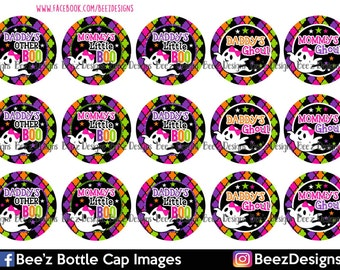 INSTANT DOWNLOAD- Daddy's Other Boo- 1inch Bottlecap Images- 4x6 Digital Collage Sheet