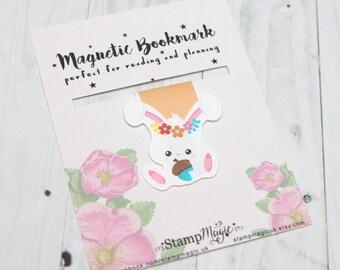 Bunny Magnetic Bookmark - Planner - Reading - Kawaii - Cute