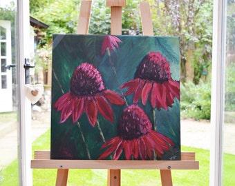 Echinacea Flower Acrylic Wall Art Painting
