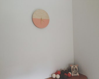 Wooden wall clock, Minimalist clock, Wall Decor, Unique clock, Wood Clock, Modern Clock, Wedding gift, Housewarming gift