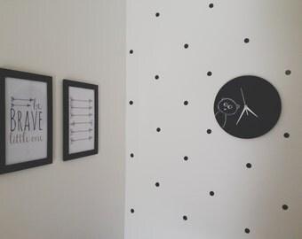 Mint shade wall clock minimalist clock for modern for Minimalist gifts for housewarming